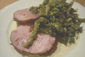 Vi spiser sammen - Skinke m/stuvet spinat @ Værestedet
